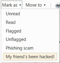 Hotmail new hacked feature