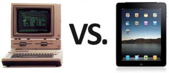 Apple IIe vs. iPad2