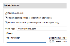 Browser Restrictions