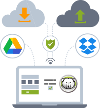 Confidently access and save your data on the cloud while keeping the computers protected
