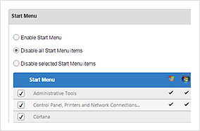 Control Panel and Desktop Restrictions