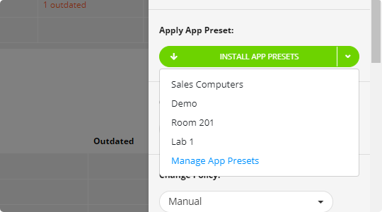 Application Presets