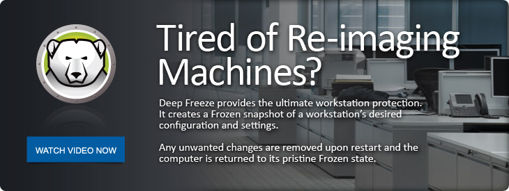 Tired of Re-Imaging Machines?
