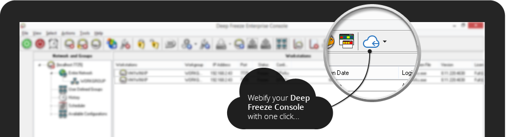 Webify your Deep Freeze Console with one click...