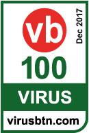 2017 年 12 月荣获 VIRUS BULLETIN VB100 奖项