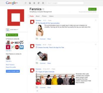 Faronics Announces Google+ Page