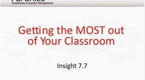 Getting the most out of your classroom