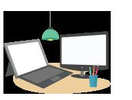 Computadores residenciais e notebooks
