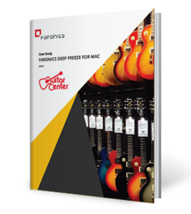 Faronics Deep Freeze for Mac and Guitar Center