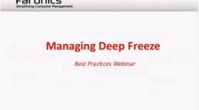 Managing Windows environments with Deep Freeze