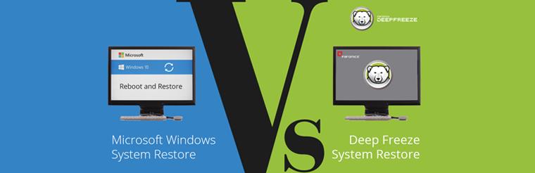 Microsoft Windows System Restore vs Deep Freeze