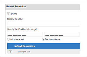 Network Restrictions