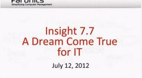 Webinar: Insight 7.7 now with Free Tech Console