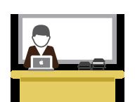 Equipos de profesores y empleados