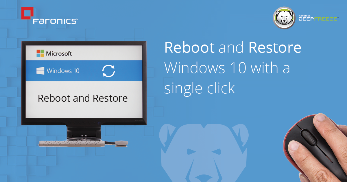 reboot and restore windows 10